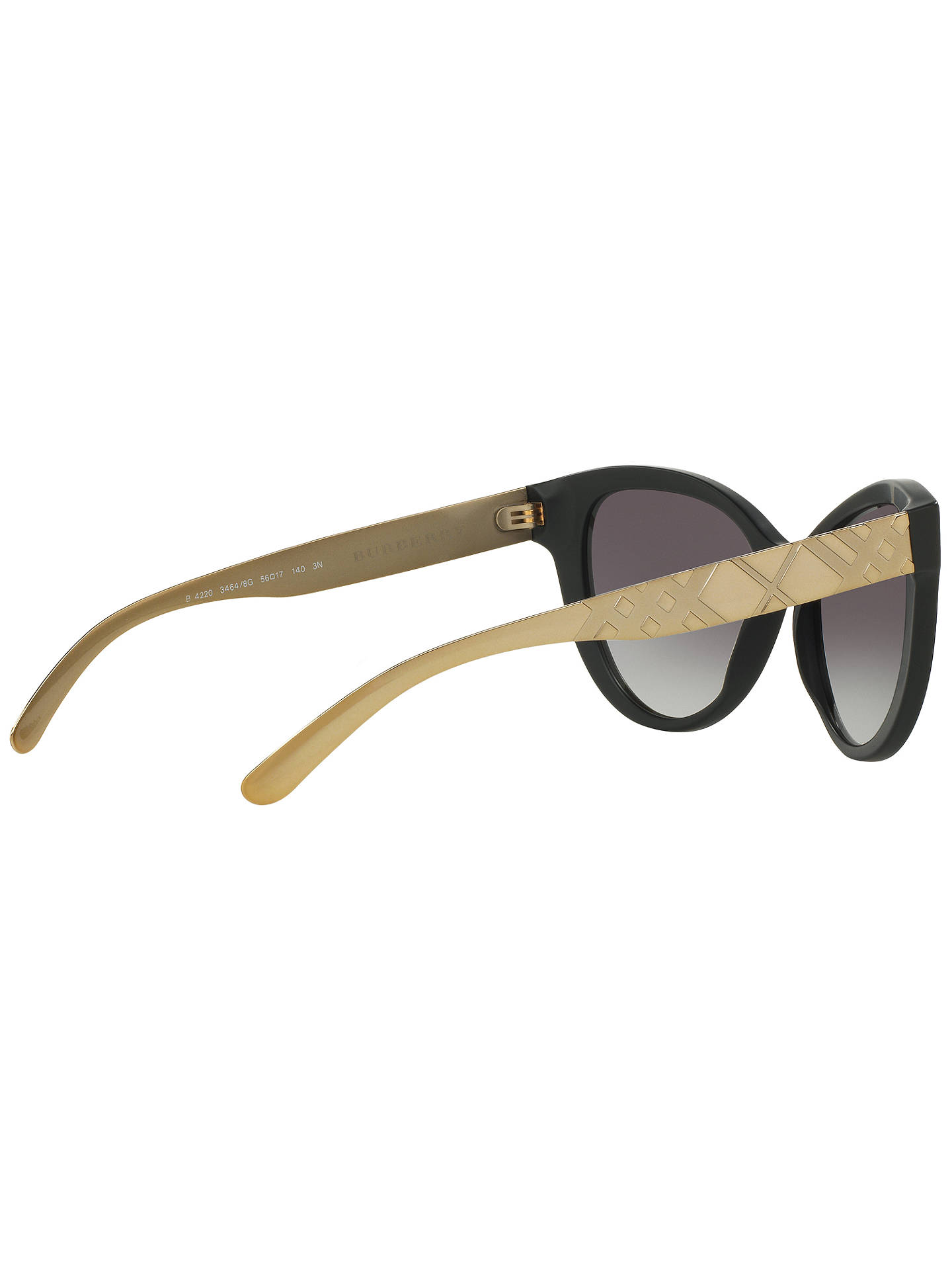 BuyBurberry BE4220 Gradient Cat's Eye Sunglasses, Black Online at johnlewis.com