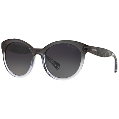 Ralph Lauren RA5211 Polarised Cat's Eye Sunglasses, Black/Grey