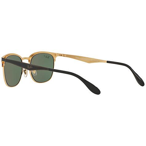 ray ban half frame aviator sunglasses  Buy Ray-Ban RB3538 Half Frame Polarised Square Sunglasses, Black ...