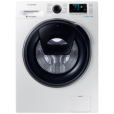 Samsung AddWash WW90K6410QW/EU Washing Machine, 9kg Load, A+++ Energy Rating, 1400rpm Spin, White
