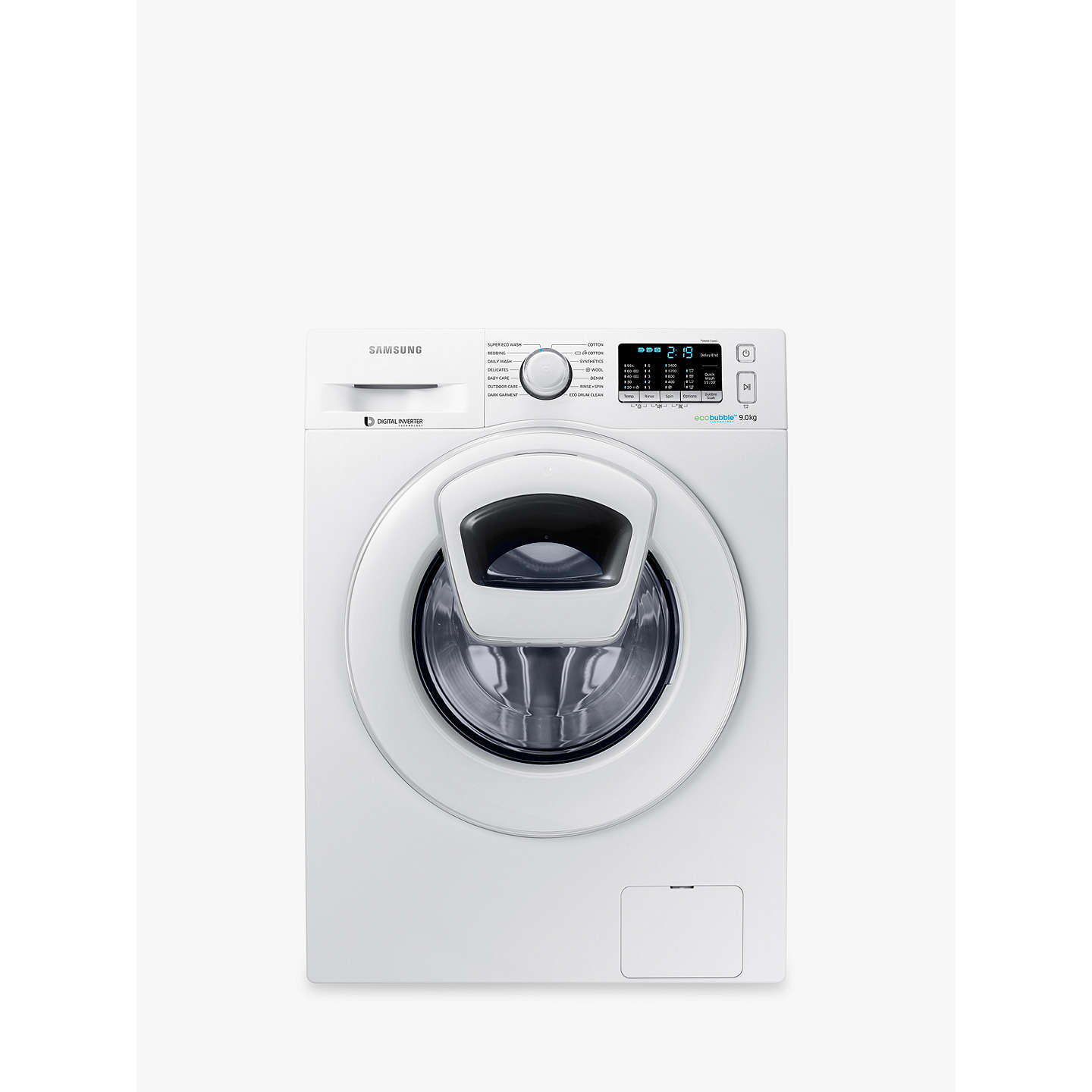 Samsung addwash ww90k5410wweu washing machine 9kg load a buysamsung addwash ww90k5410wweu washing machine 9kg load a energy rating 1400rpm biocorpaavc Images