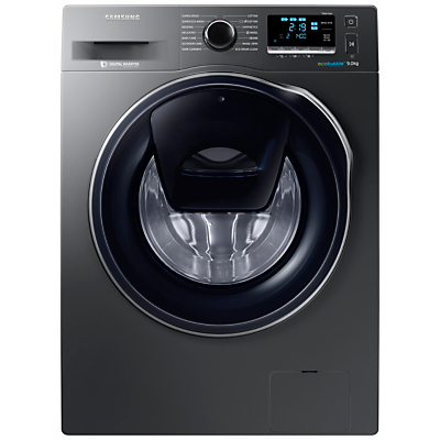 Samsung AddWash WW90K6410QX/EU Washing Machine, 9kg Load, A+++ Energy Rating, 1400rpm Spin, Inox