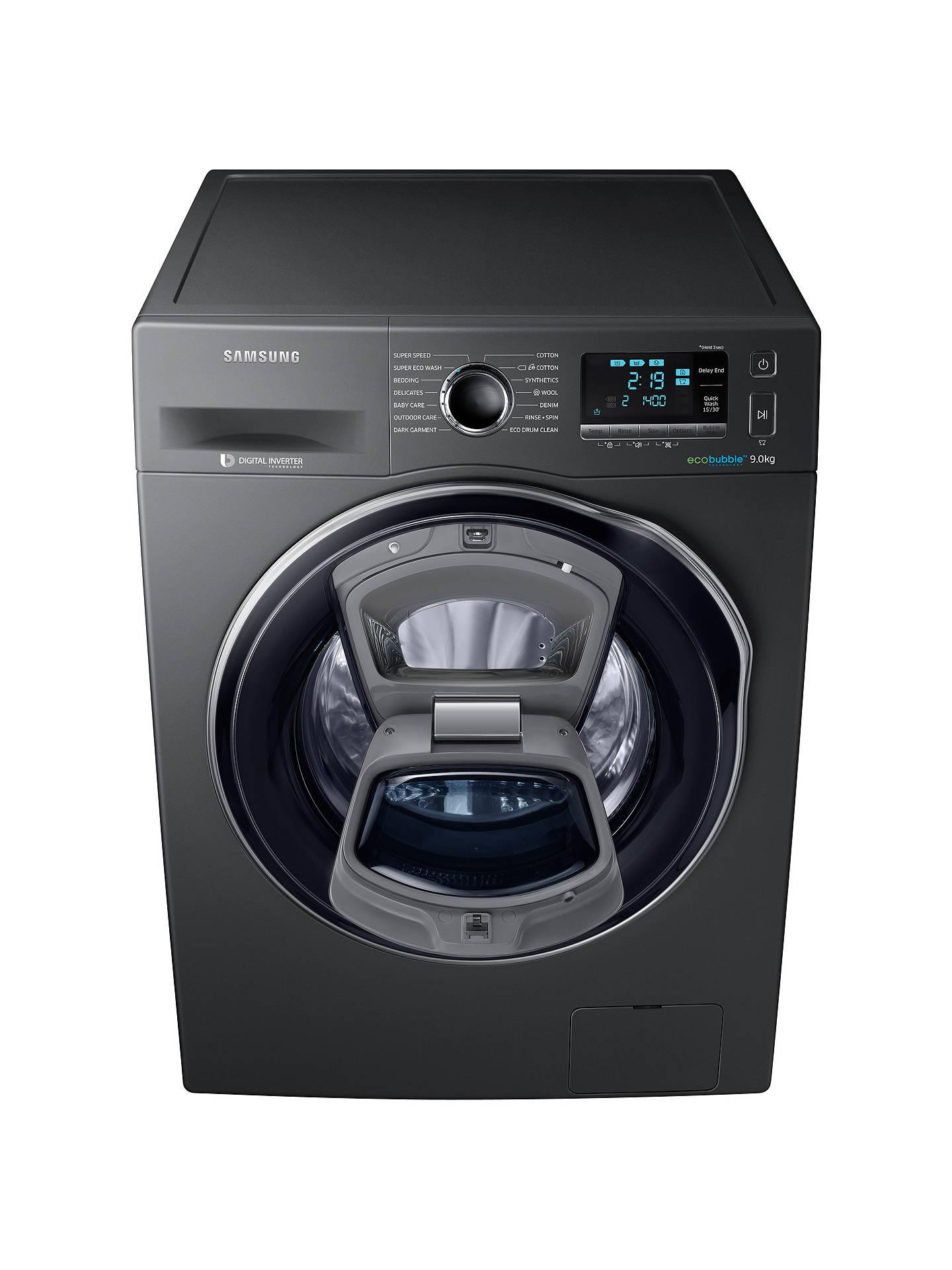 Samsung AddWash WW90K6410QX/EU Washing Machine, 9kg Load, A+++ Energy  Rating, 1400rpm Spin, Inox
