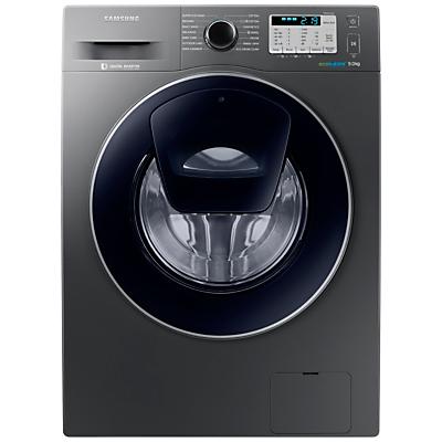 Samsung AddWash WW90K5413UX/EU Washing Machine, 9kg Load, A+++ Energy Rating, 1400rpm Spin, Inox