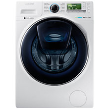 Buy Samsung AddWash WW12K8412OW/EU Washing Machine, 12kg Load, A+++ Energy Rating, 1400rpm Spin, White Online at johnlewis.com