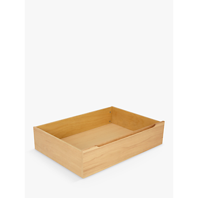 Product photo of House by john lewis bow underbed storage drawers set of 2 oak