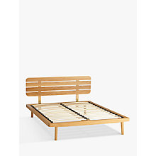 Buy House by John Lewis Bow Slatted Headboard Bed Frame, King Size, Oak Online at johnlewis.com