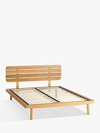 House by John Lewis Bow Slatted Headboard Bed Frame, King Size