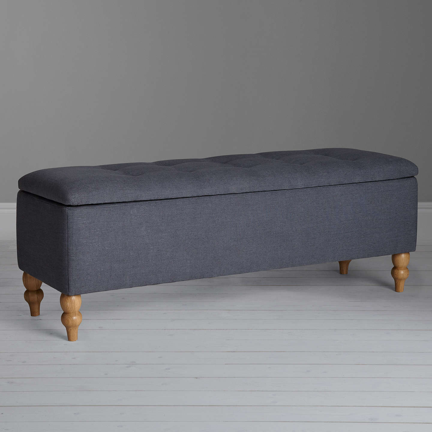 BuyCroft Collection Skye Ottoman Blanket Box, Loch Blue Online at johnlewis.com