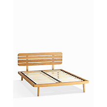 Buy House by John Lewis Bow Slatted Headboard Bed Frame, Double, Oak Online at johnlewis.com