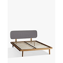 Buy House by John Lewis Bow Upholstered Headboard Bed Frame, Double Online at johnlewis.com