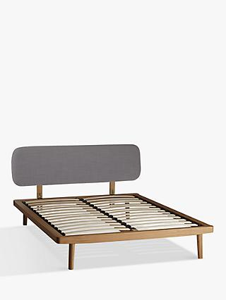 House by John Lewis Bow Upholstered Headboard Bed Frame, Double