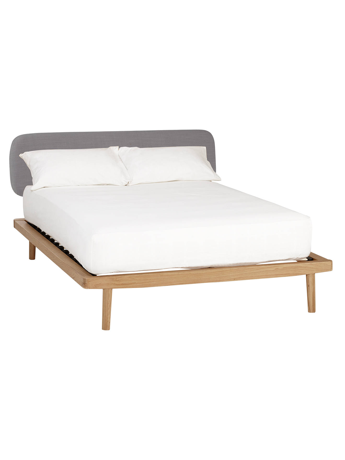 BuyHouse by John Lewis Bow Upholstered Headboard Bed Frame, King Size, Oak Online at johnlewis.com