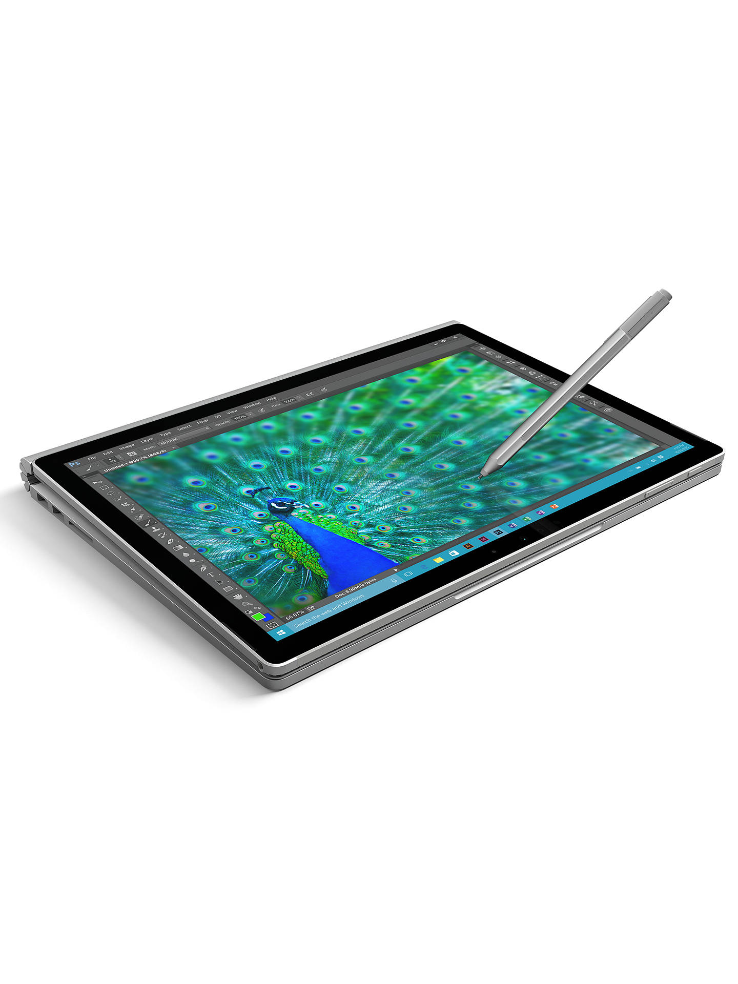 "Buy Microsoft Surface Book, Intel Core i5, 8GB RAM, 128GB, 13.5"" PixelSense Touch Screen, Silver Online at johnlewis.com"