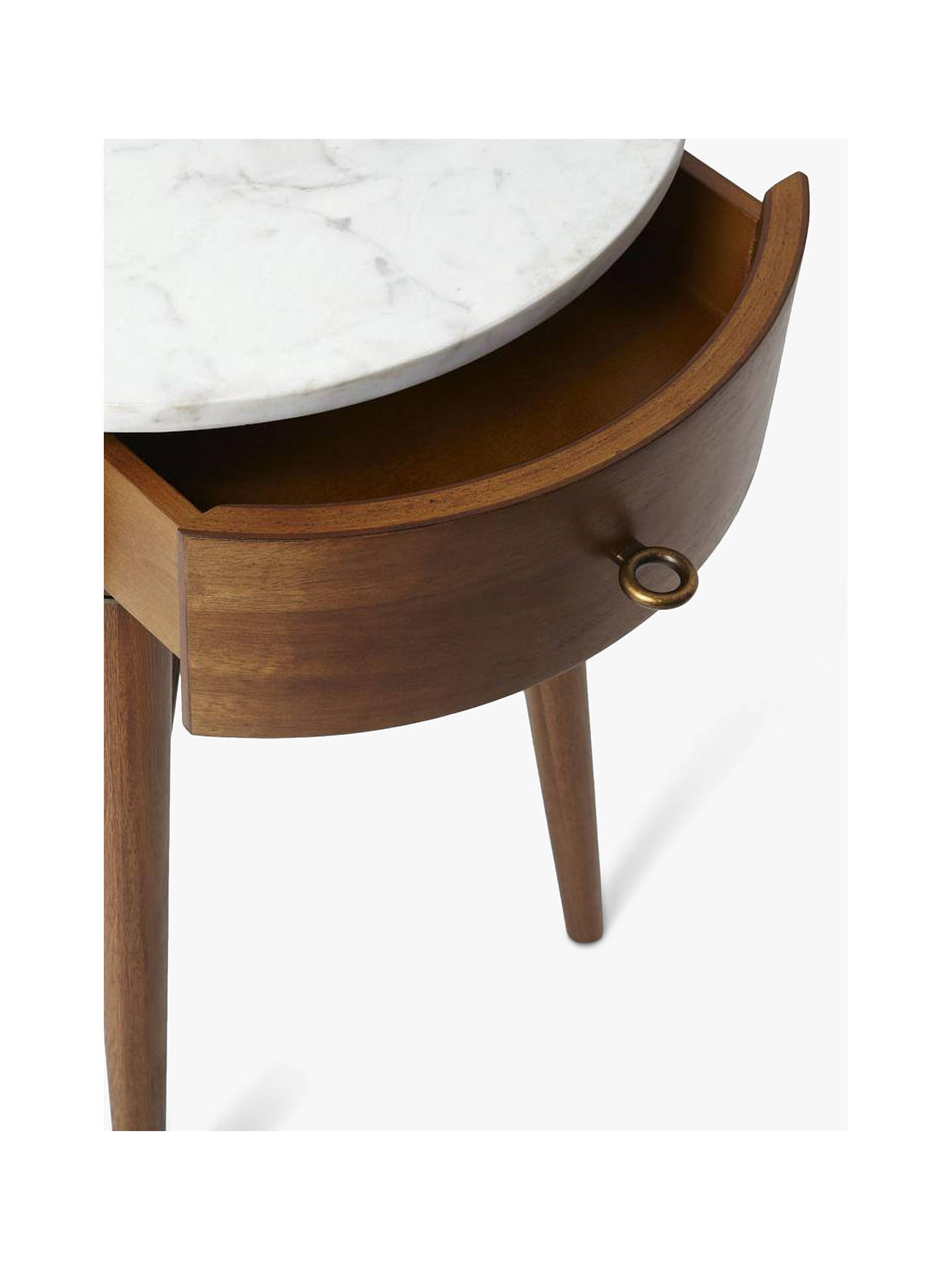 Buywest elm Penelope Bedside Table, Acorn Online at johnlewis.com