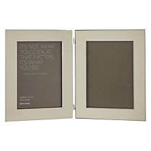 "Buy John Lewis Amy Double Photo Frame, 5 x 7"", Cream Online at johnlewis.com"