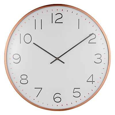 House by John Lewis Domed Wall Clock, Copper