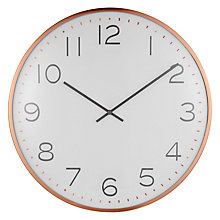 Buy House by John Lewis Domed Wall Clock, Copper Online at johnlewis.com
