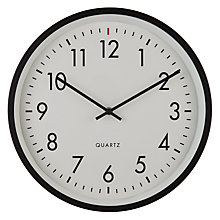 Buy House by John Lewis Metal Wall Clock, Black Online at johnlewis.com