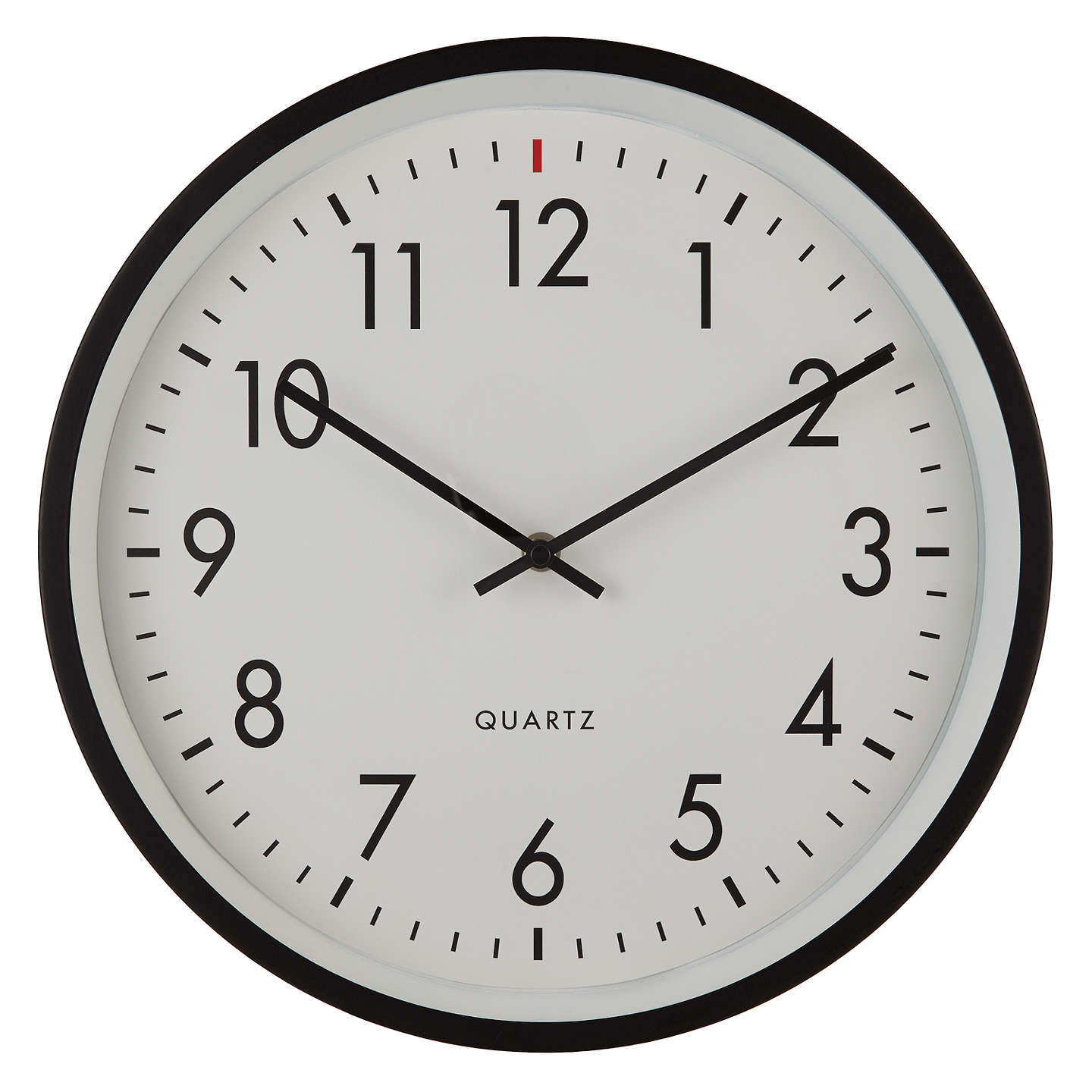House By John Lewis Metal Wall Clock Dia 36cm Black At