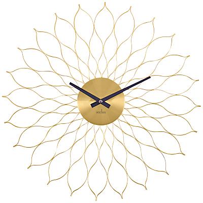 Acctim Metal Flower Wall Clock, Dia. 49cm, Brass