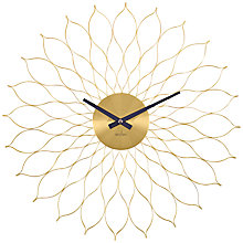 Buy Acctim Metal Flower Wall Clock, Dia. 49cm, Brass Online at johnlewis.com