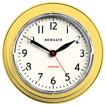 Buy Newgate The Mini Cookhouse Clock, Dia.23cm, Yellow Online at johnlewis.com
