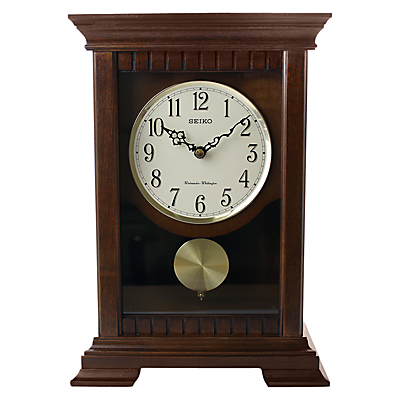 Seiko Chiming Wooden Pendulum Clock, 33cm