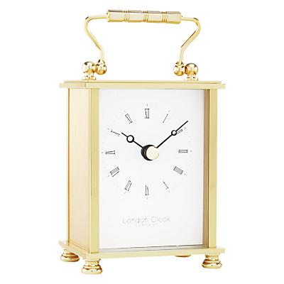 London Clock Company Solid Brass Mini Carriage Clock, Gold