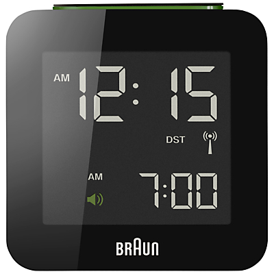 Braun Radio Controlled Global Alarm Clock, Black
