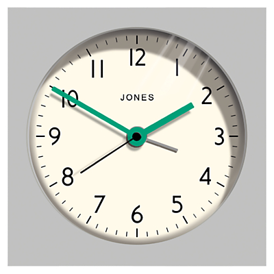 Jones Zeus Alarm Clock, Grey