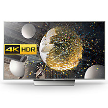 "Buy Sony Bravia 55XD8577/8599 LED HDR 4K Ultra HD Android TV, 55"" With Youview/Freeview HD & Silver Slate Design Online at johnlewis.com"