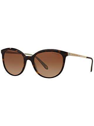 Tiffany & Co TF4117B Gradient Oval Sunglasses, Tortoise