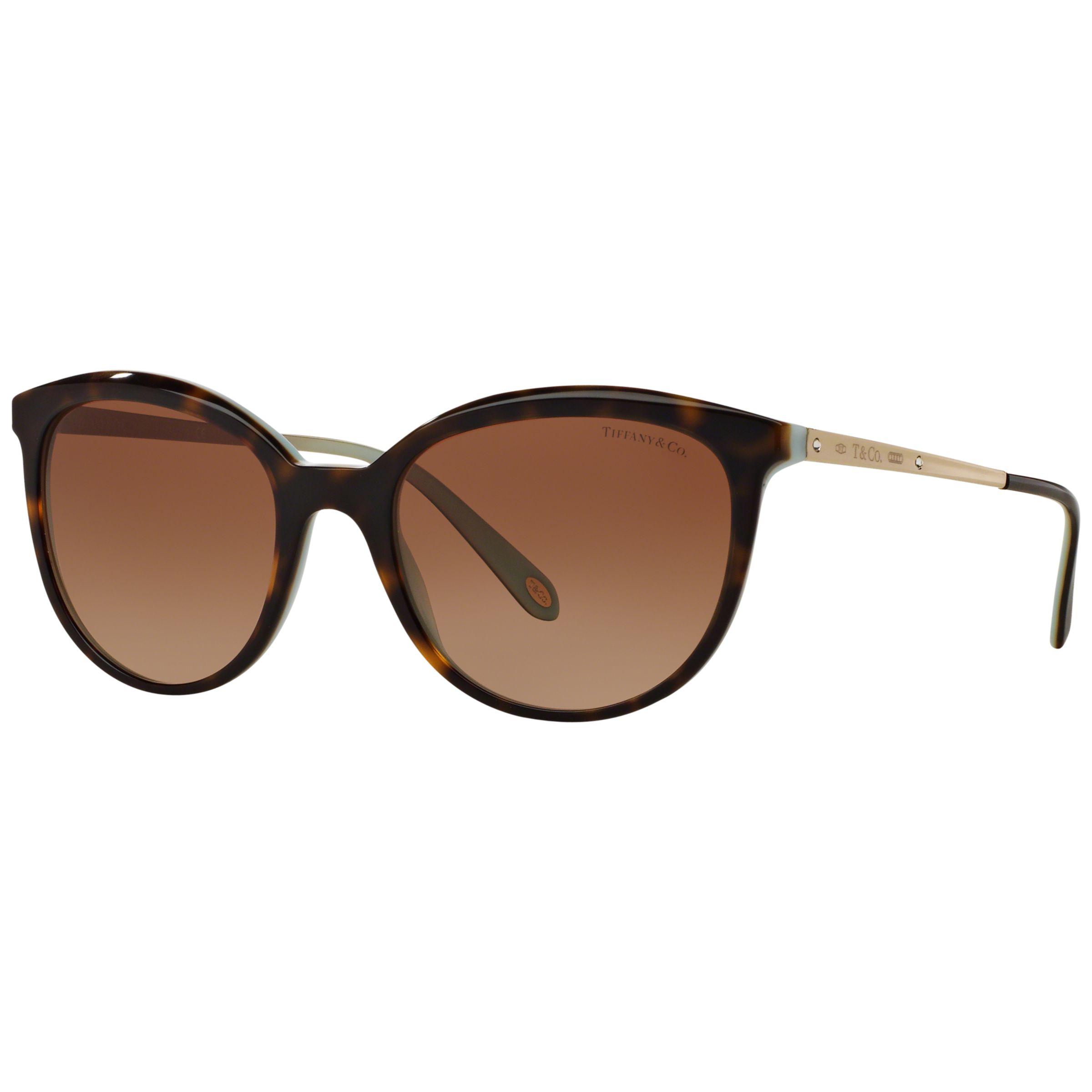 Tiffany & Co Tiffany & Co TF4117B Gradient Oval Sunglasses, Tortoise