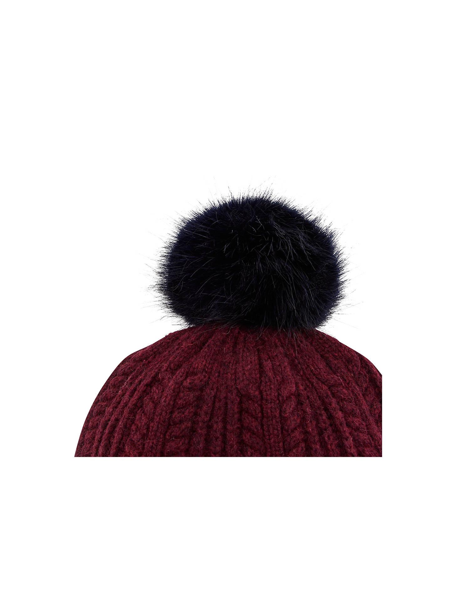 Joules Faux Fur Bobble Pom Pom Beanie Hat at John Lewis   Partners 9498ea29f9b