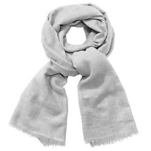 Buy John Lewis Metallic Wool Wrap , Grey Online at johnlewis.com