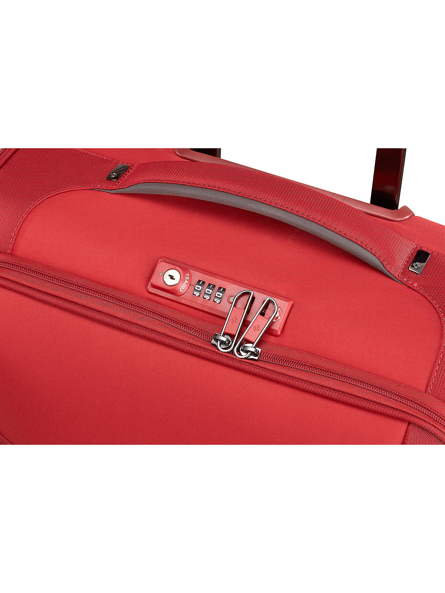 Buy Samsonite Uplite 4-Wheel 78cm Spinner Suitcase, Red Online at johnlewis.com