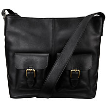 Buy John Lewis Penny Leather Satchel, Black Online at johnlewis.com