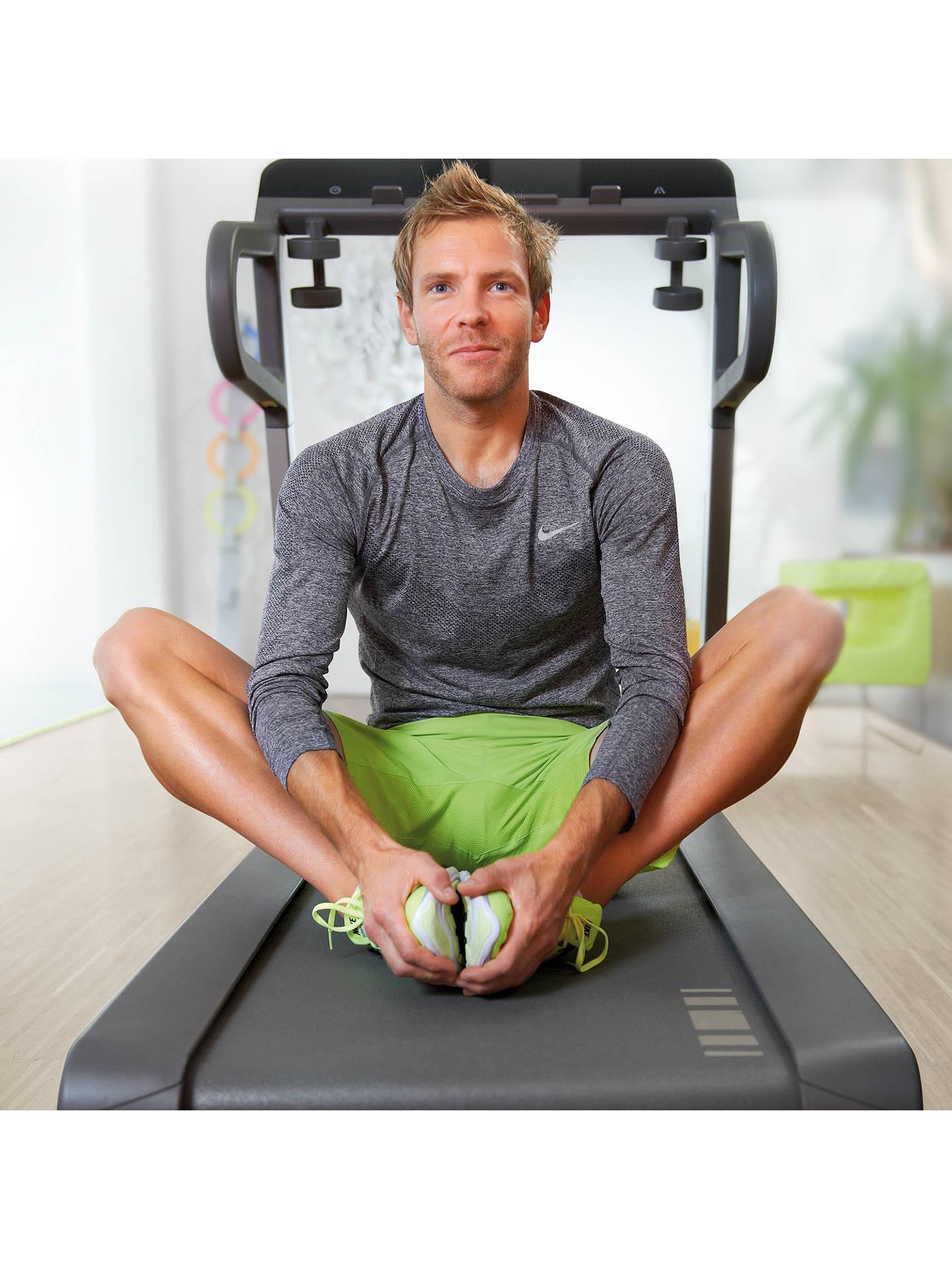 Myrun technogym treadmill cosmo black at john lewis