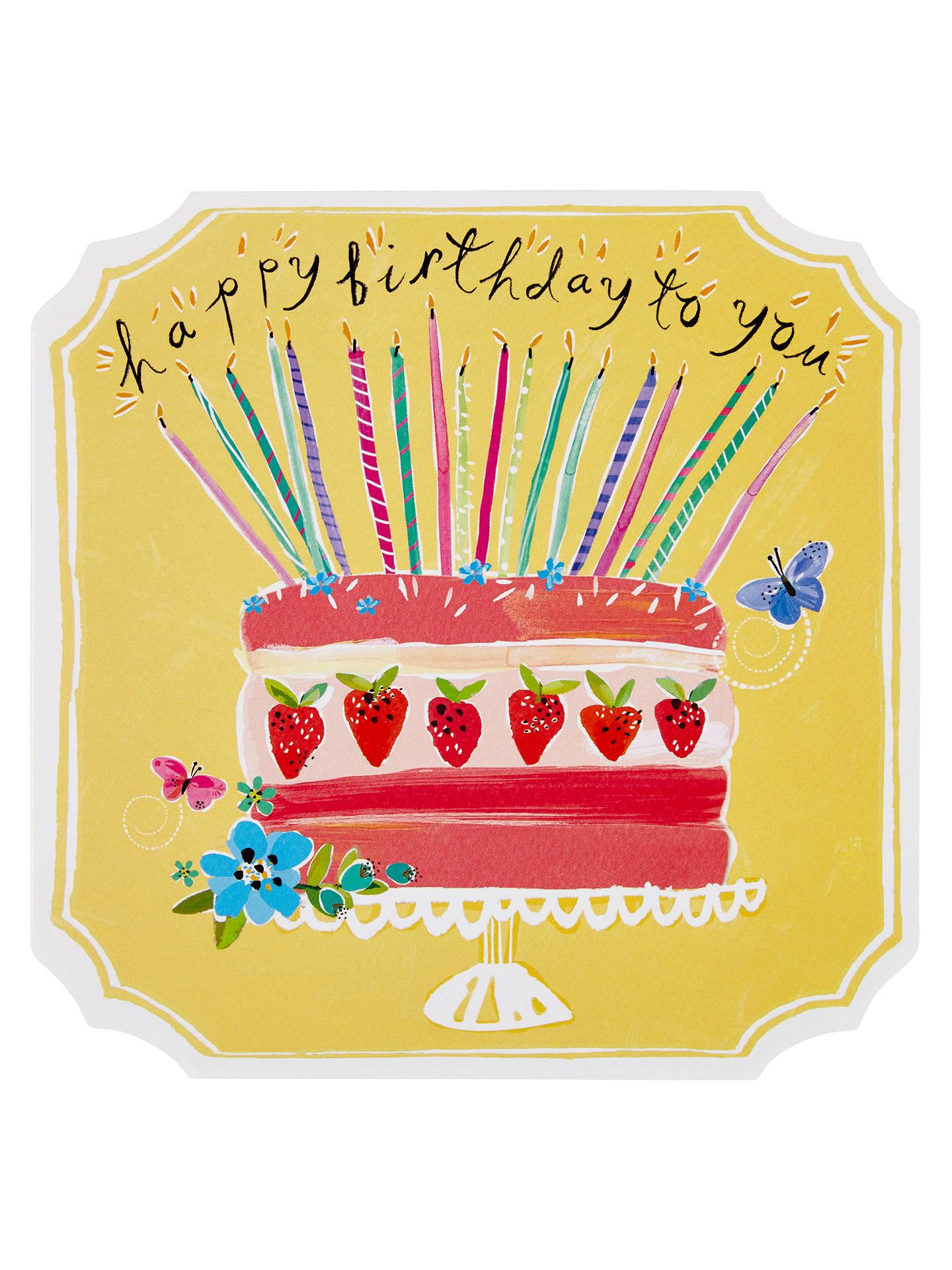 Brilliant Paperlink Birthday Cake Greetings Card At John Lewis Partners Funny Birthday Cards Online Elaedamsfinfo