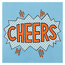 Buy James Ellis Stevens Cheers Greetings Card Online at johnlewis.com