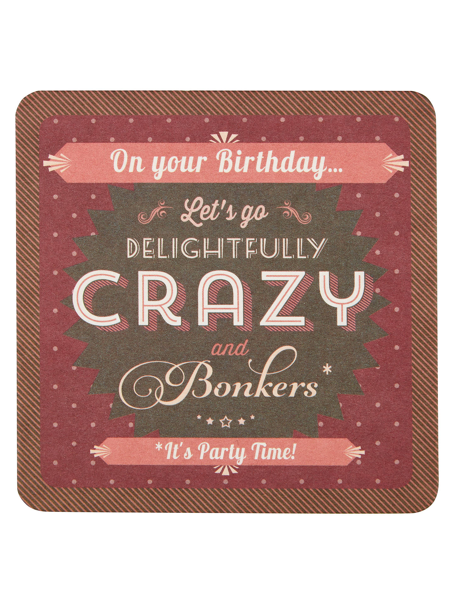 BuySaffron Cards And Gifts Delightfully Crazy Birthday Card Online At Johnlewis