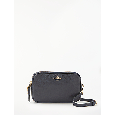 Coach Pebble Leather Cross Body Clutch Bag