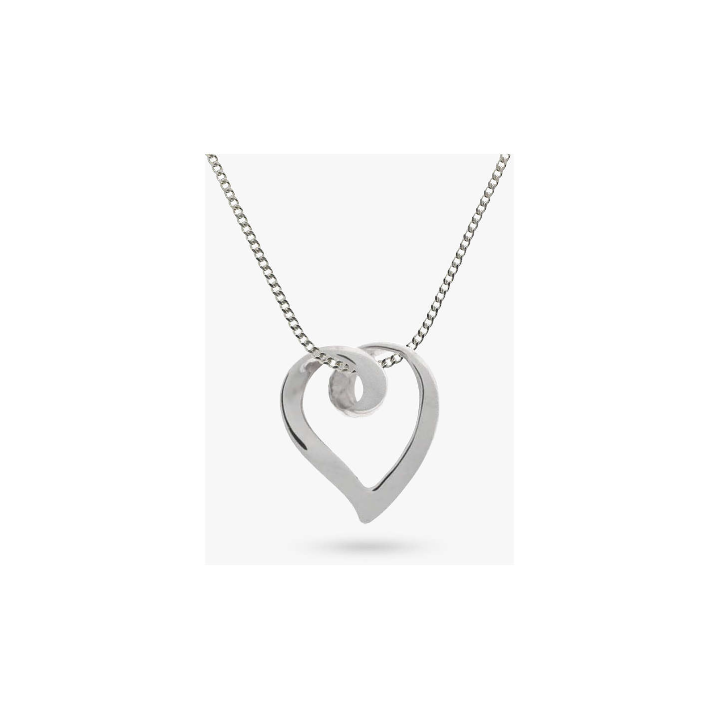 Nina b 9ct white gold large heart pendant necklace white gold at buynina b 9ct white gold large heart pendant necklace white gold online at johnlewis mozeypictures Gallery