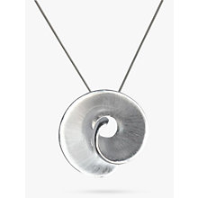 Buy Nina B Swirl Pendant Necklace, Silver Online at johnlewis.com