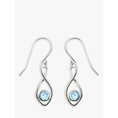 Product photo of Nina b twist drop earrings