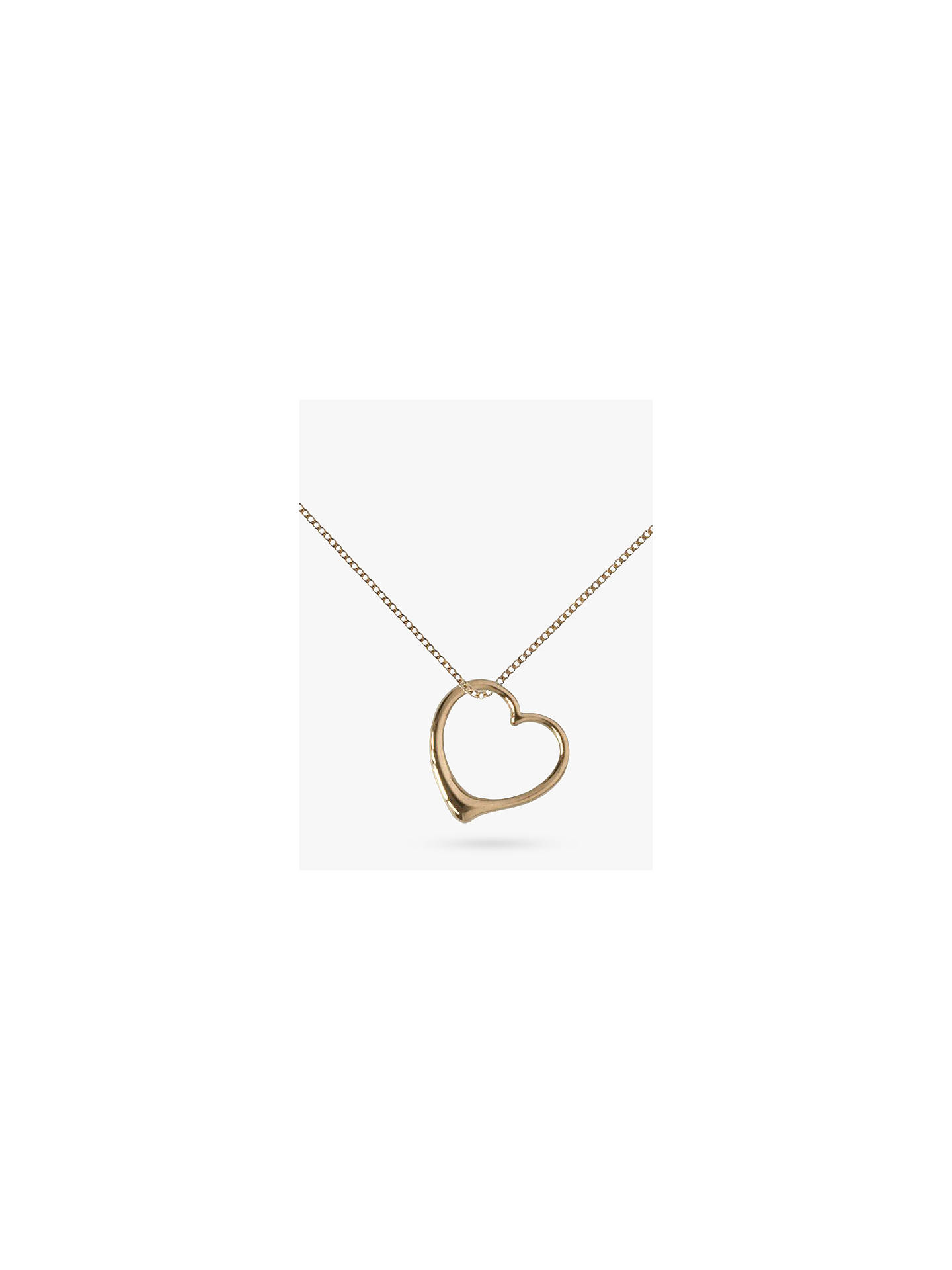 9773a0a8eec Buy Nina B 9ct Yellow Gold Small Heart Pendant Necklace, Gold Online at  johnlewis.