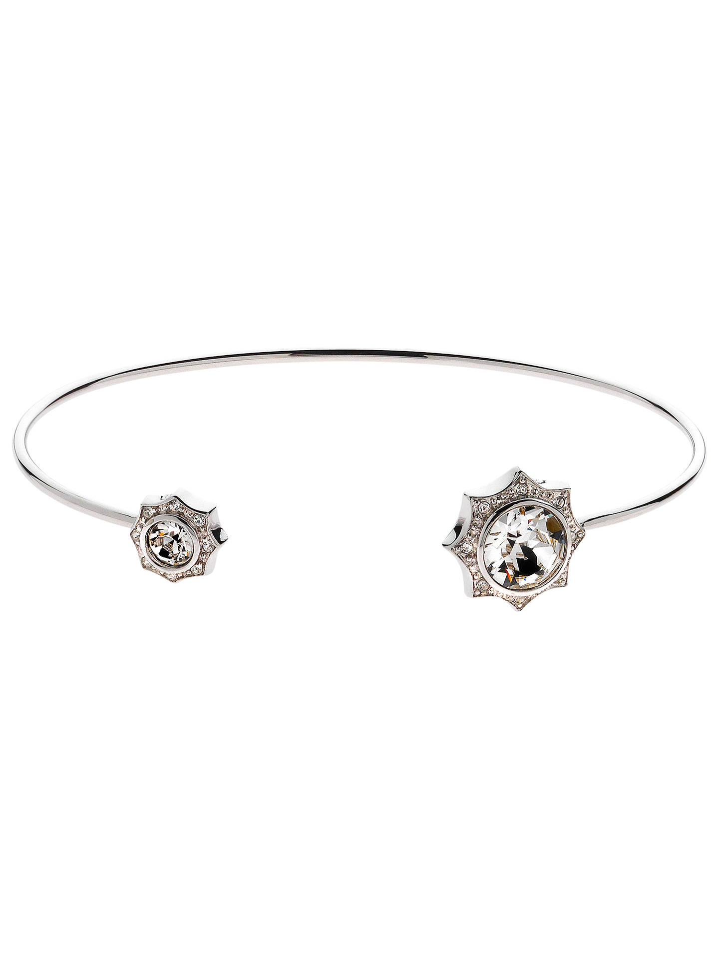 Buy Cachet Becka Spring Swarovski Crystal Cuff, Silver/Clear Online at johnlewis.com