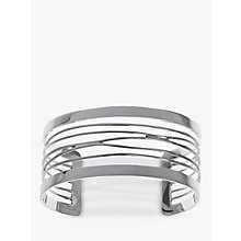 Buy Nina B Slim Zig Zag Cuff, Silver Online at johnlewis.com