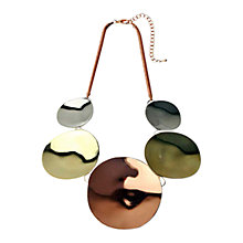 Buy Adele Marie Polished Disc Statement Necklace Online at johnlewis.com